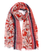 Cherry Red - Etched Floral Wrap