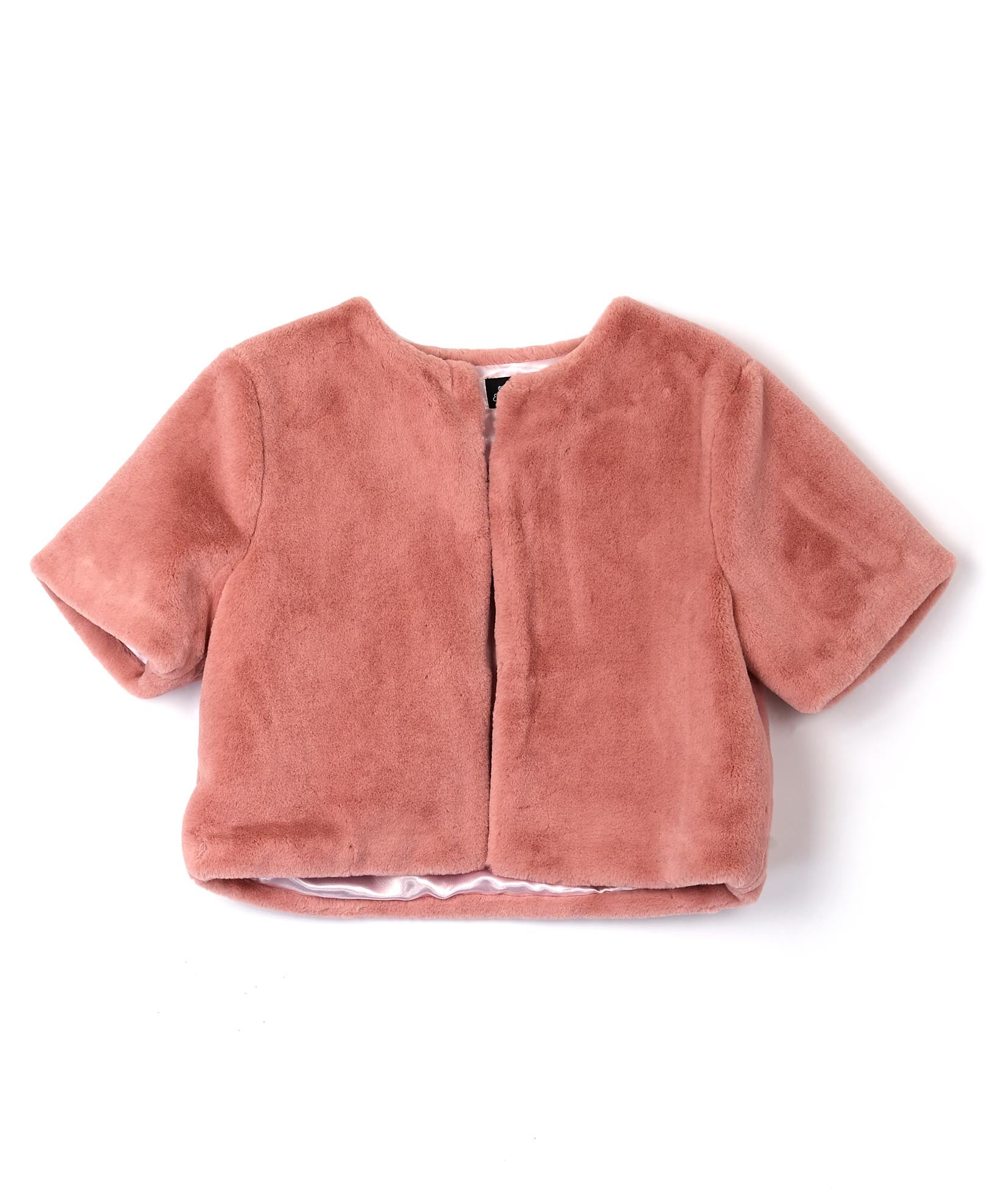 Blush - Plush Crop Jacket