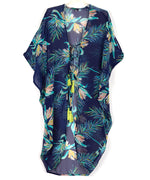 Navy - Paradise Palms Side Cowl Tunic