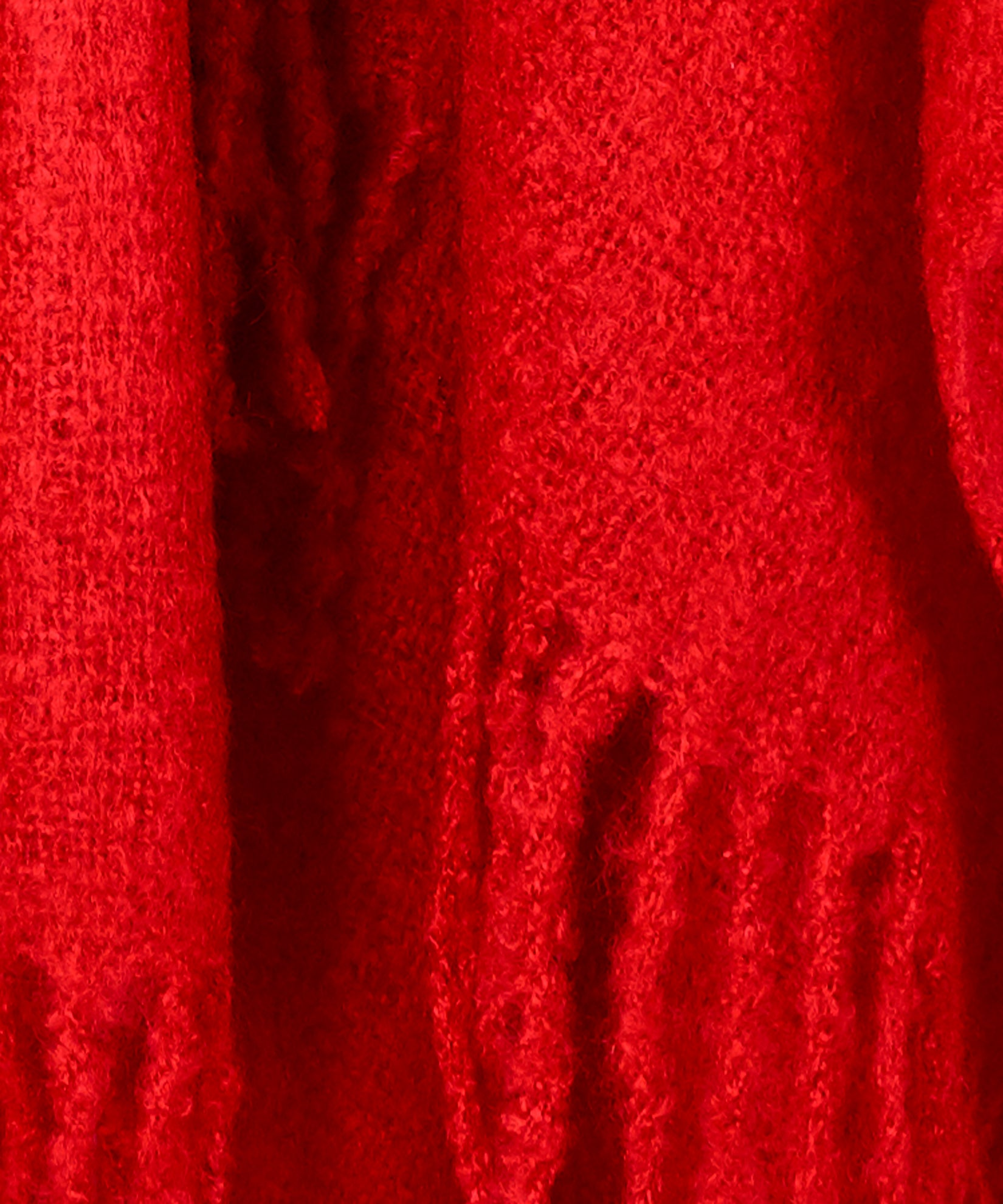 Ruby Red - Solid Boucle Ruana