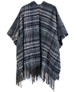 Echo Black - Lofty Plaid Ruana