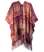 Echo Oatmeal - Lofty Plaid Ruana