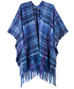 Echo Navy - Lofty Plaid Ruana