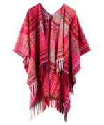 Ruby Red - Lofty Plaid Ruana