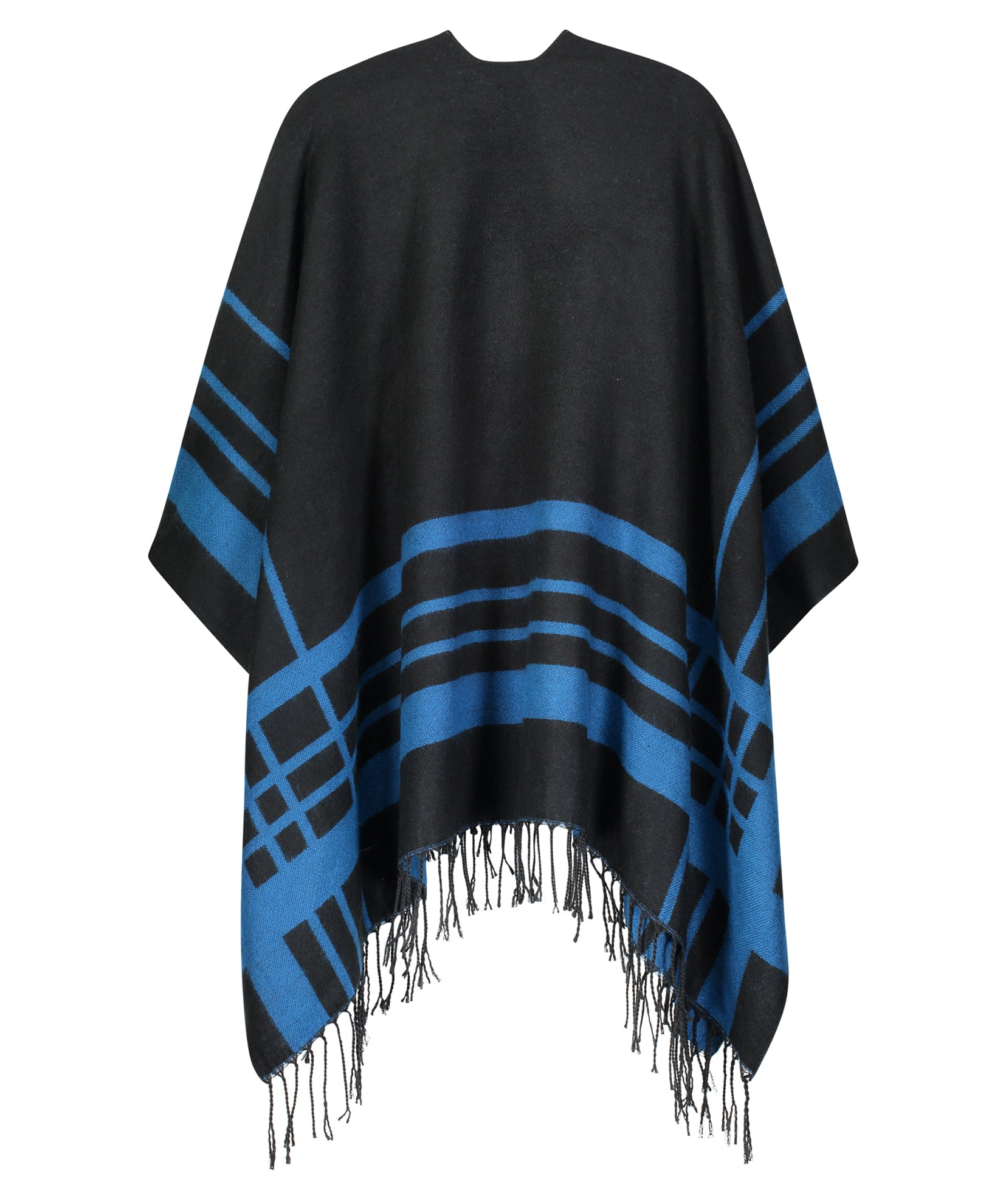 Echo Black - Striped Ruana
