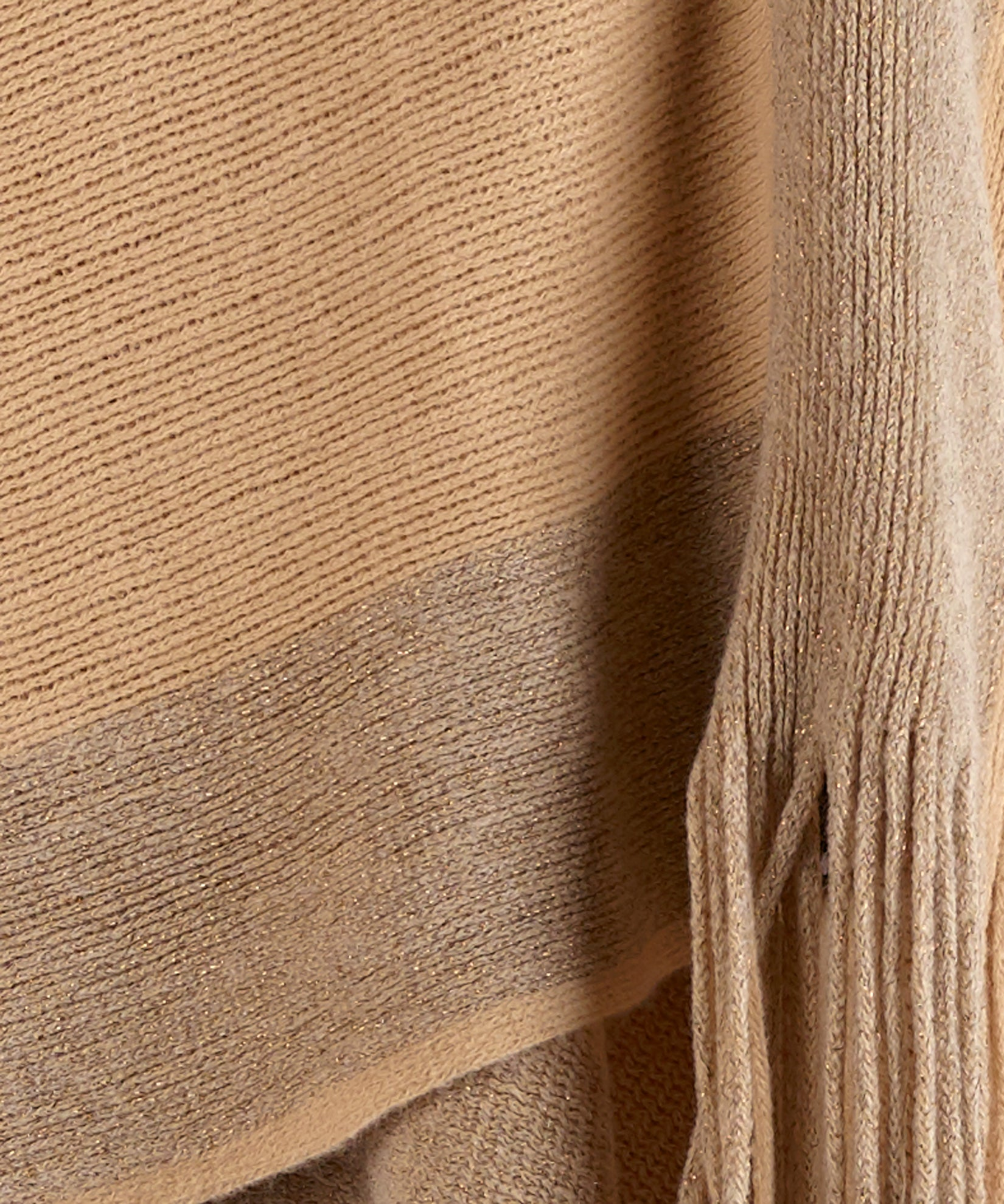 Echo Oatmeal - Metallic Stripe Warp Knit