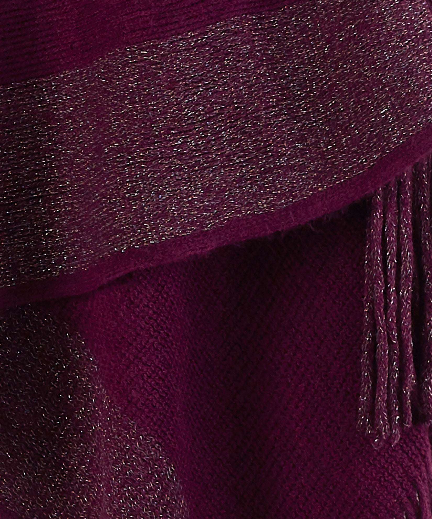 Pickled Beet - Metallic Stripe Warp Knit