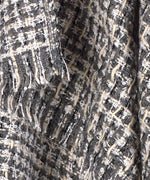 Echo Silver - Lurex Tweed Ruana