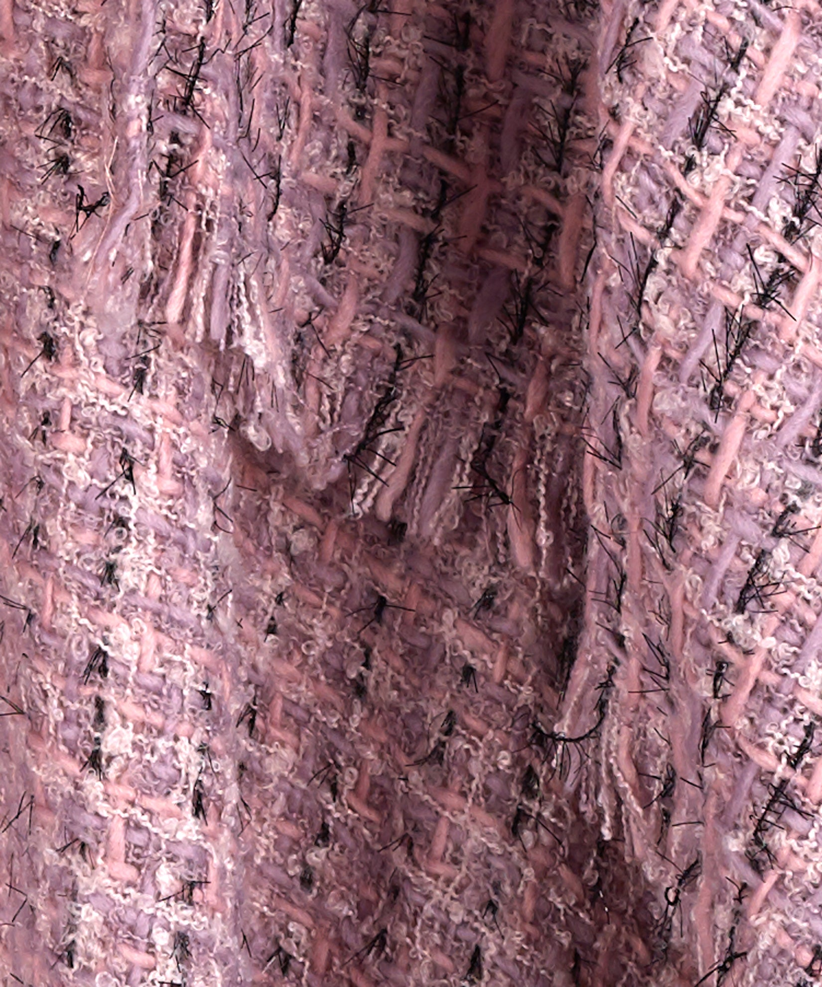Smoked Lilac - Lurex Tweed Ruana