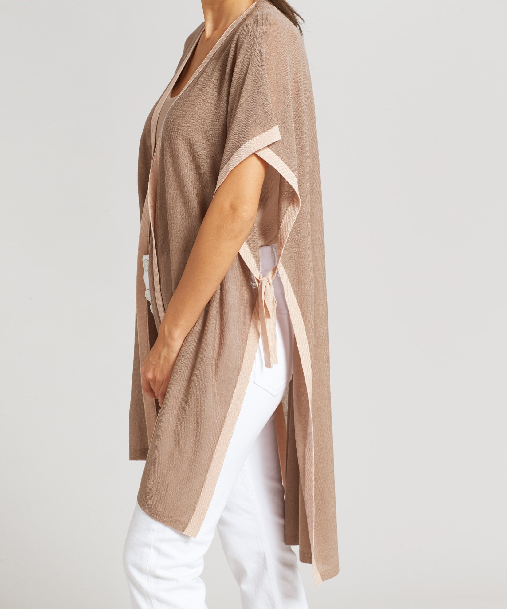 Chai - Meadow Knit Side Tie Ruana