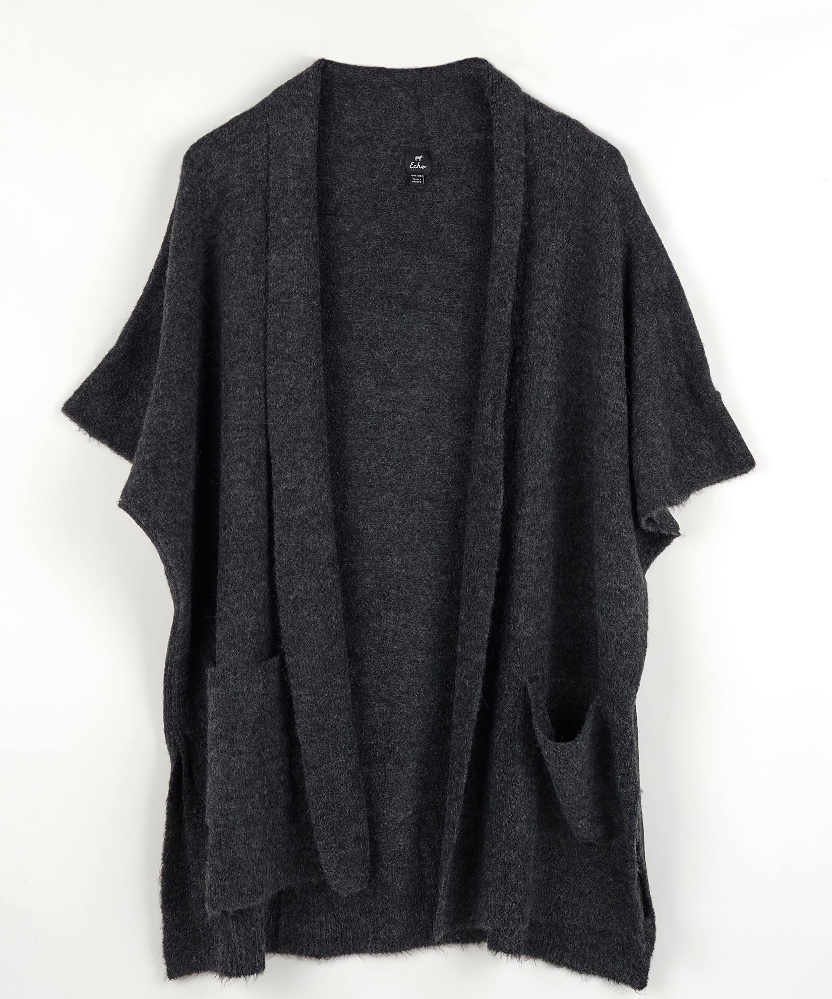 Black - Cardigan With Pockets