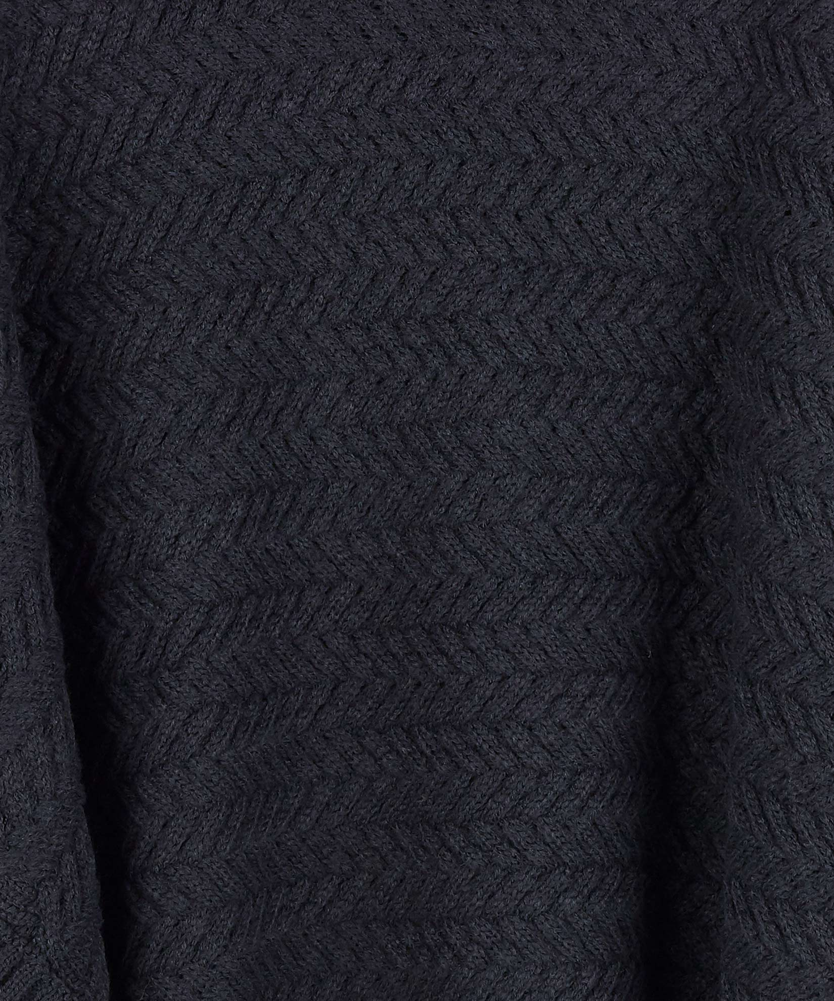 Echo Black - Braided Turtleneck Topper