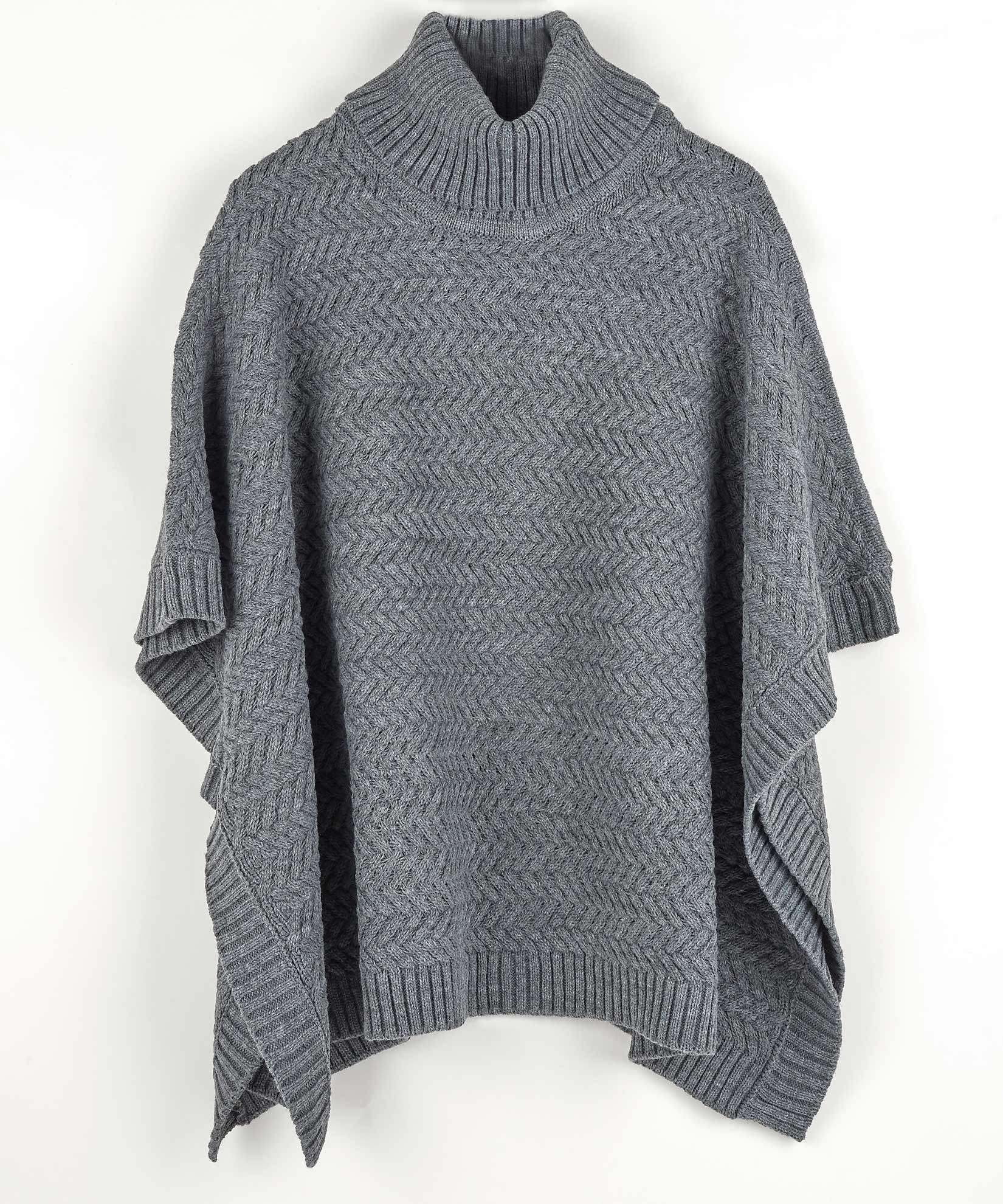 Echo Charcoal - Braided Turtleneck Topper