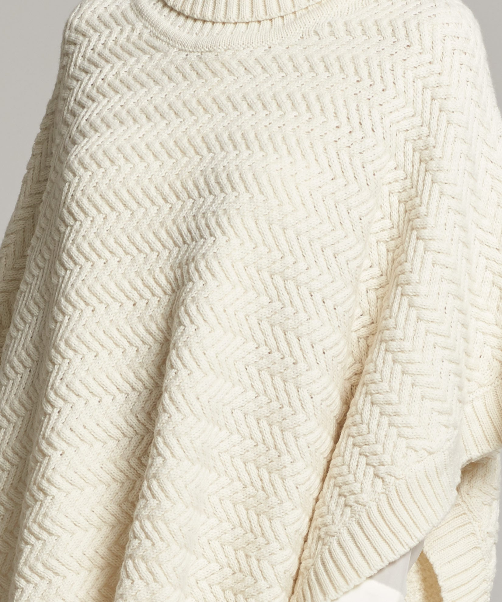 Echo Ivory - Braided Turtleneck Topper