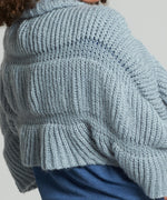Sky Blue - Ruffle Shrug