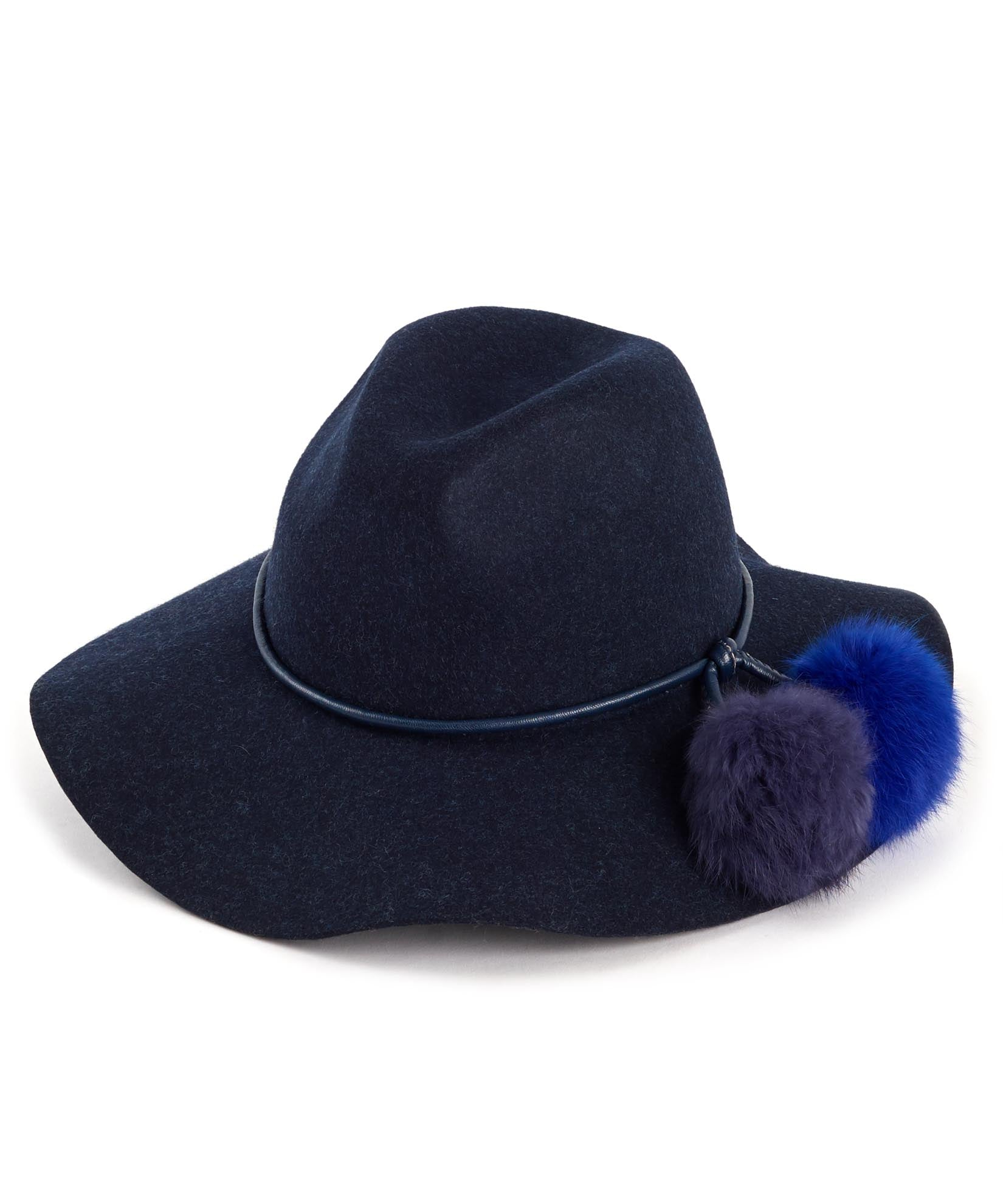 Maritime Navy - Rabbit Fur Pom Hat