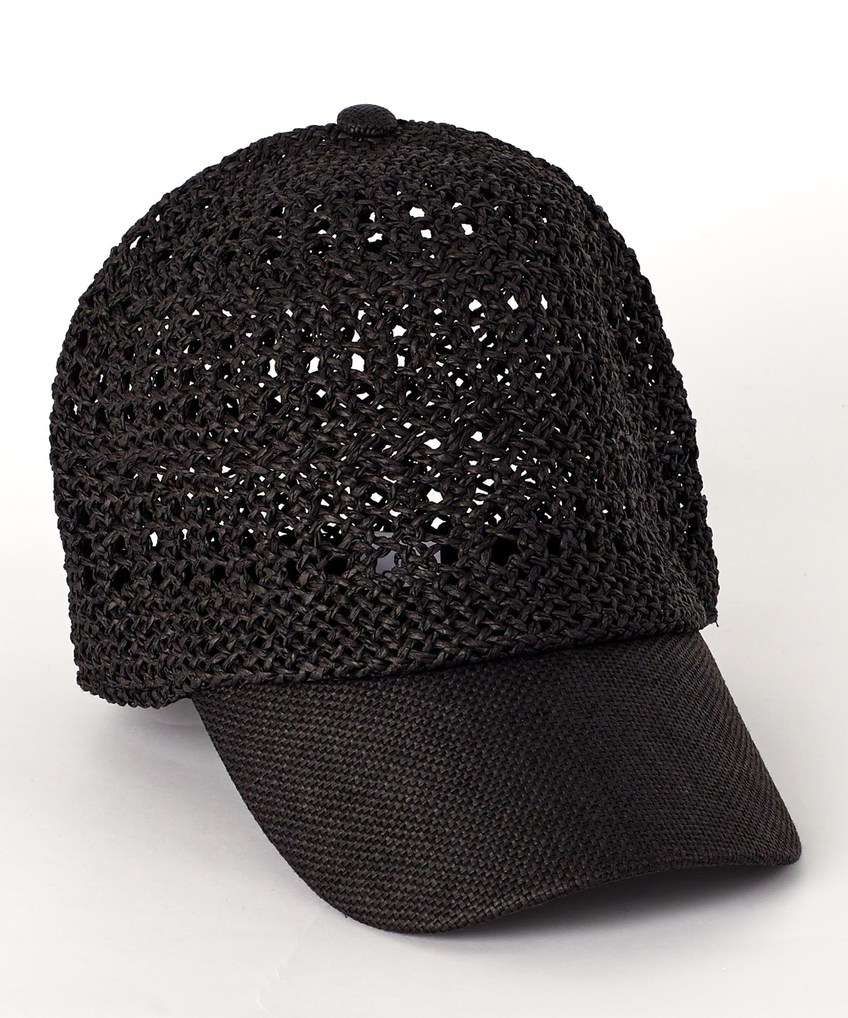 Black - Lilly Packable Baseball Cap