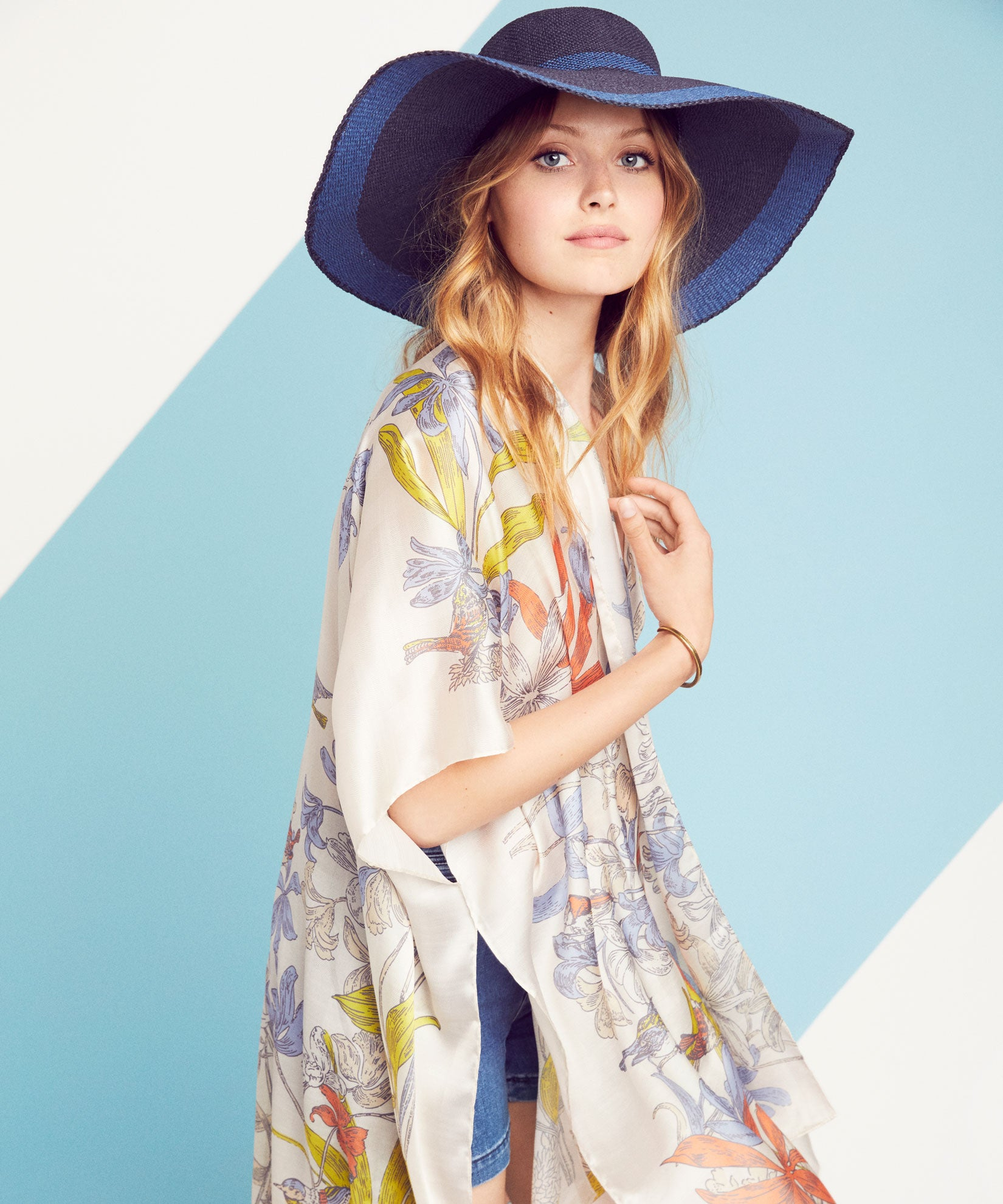 Echo Navy - Statement Border Sunhat