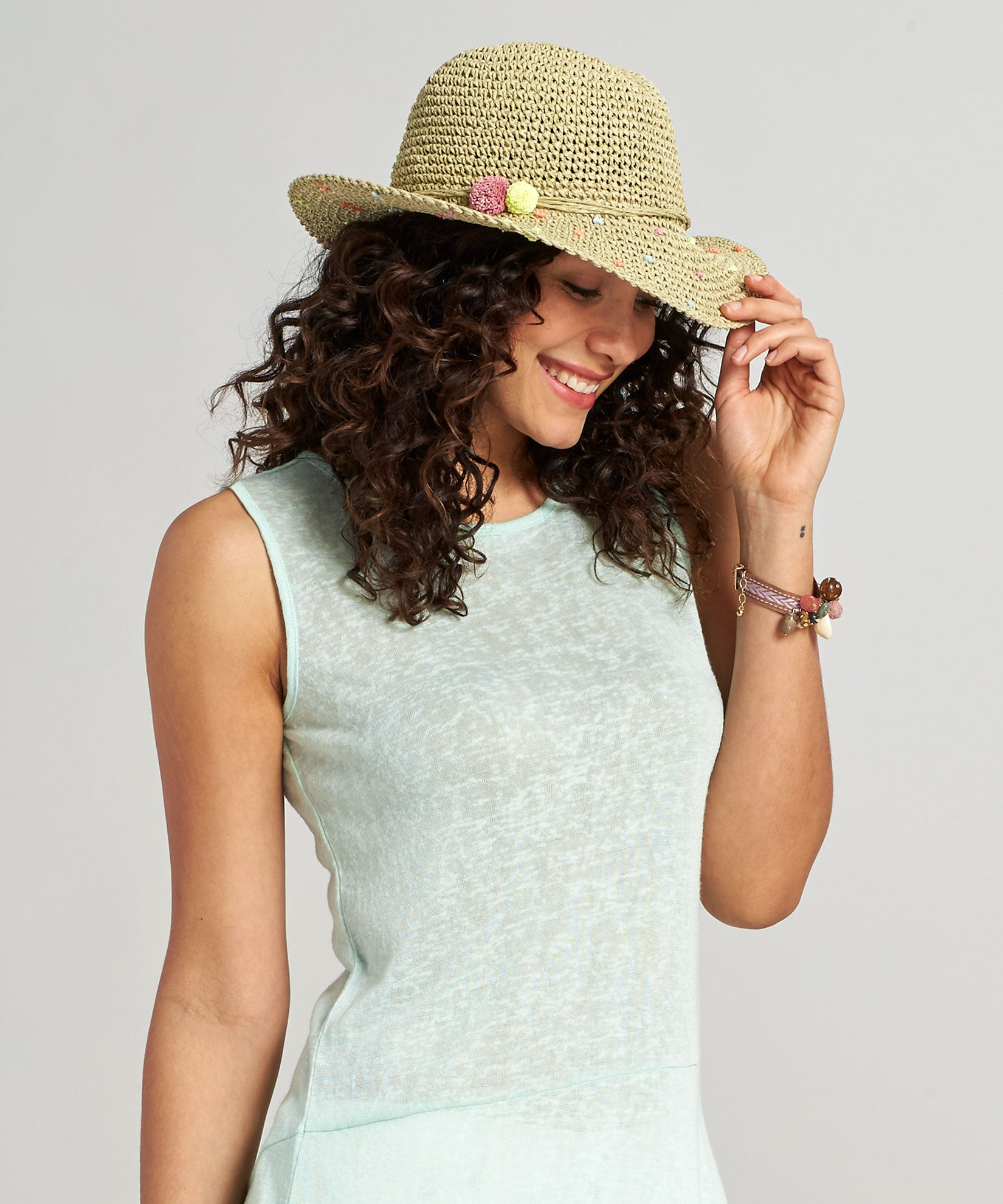 Natural - Dots Dots Dots Hat
