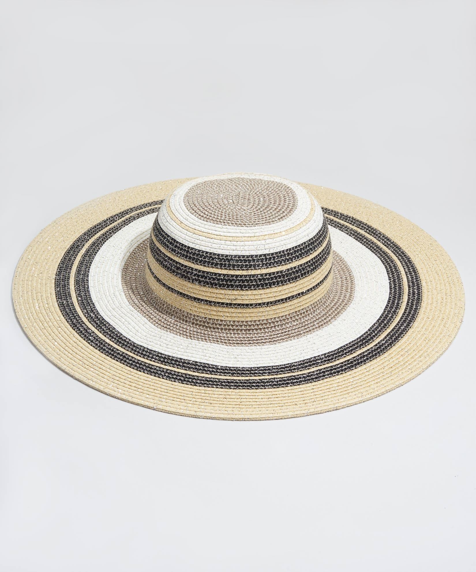 Black - Metallic Stripe Hat