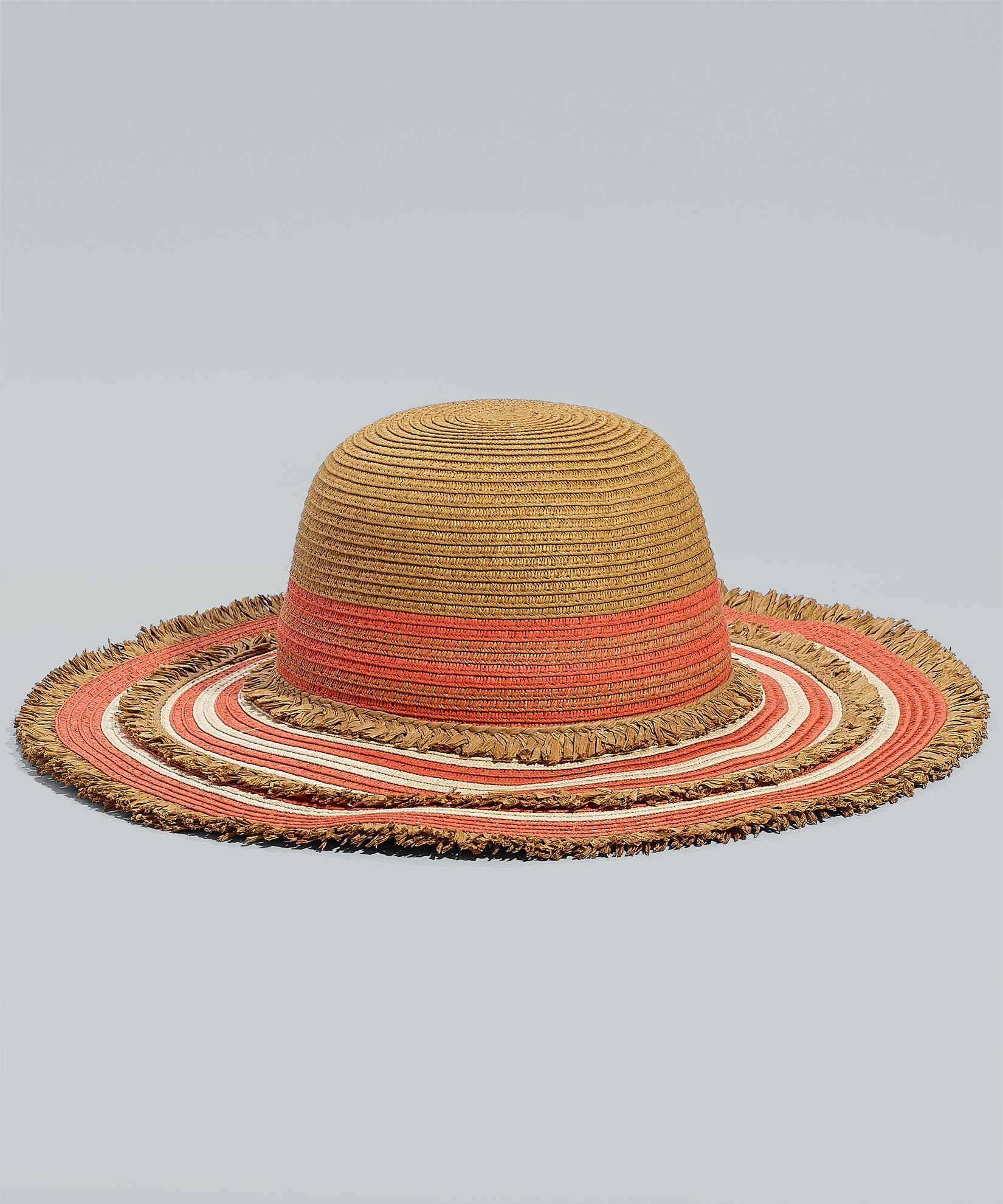 Passion Flower - Floppy Stripe Hat W/ Fringe