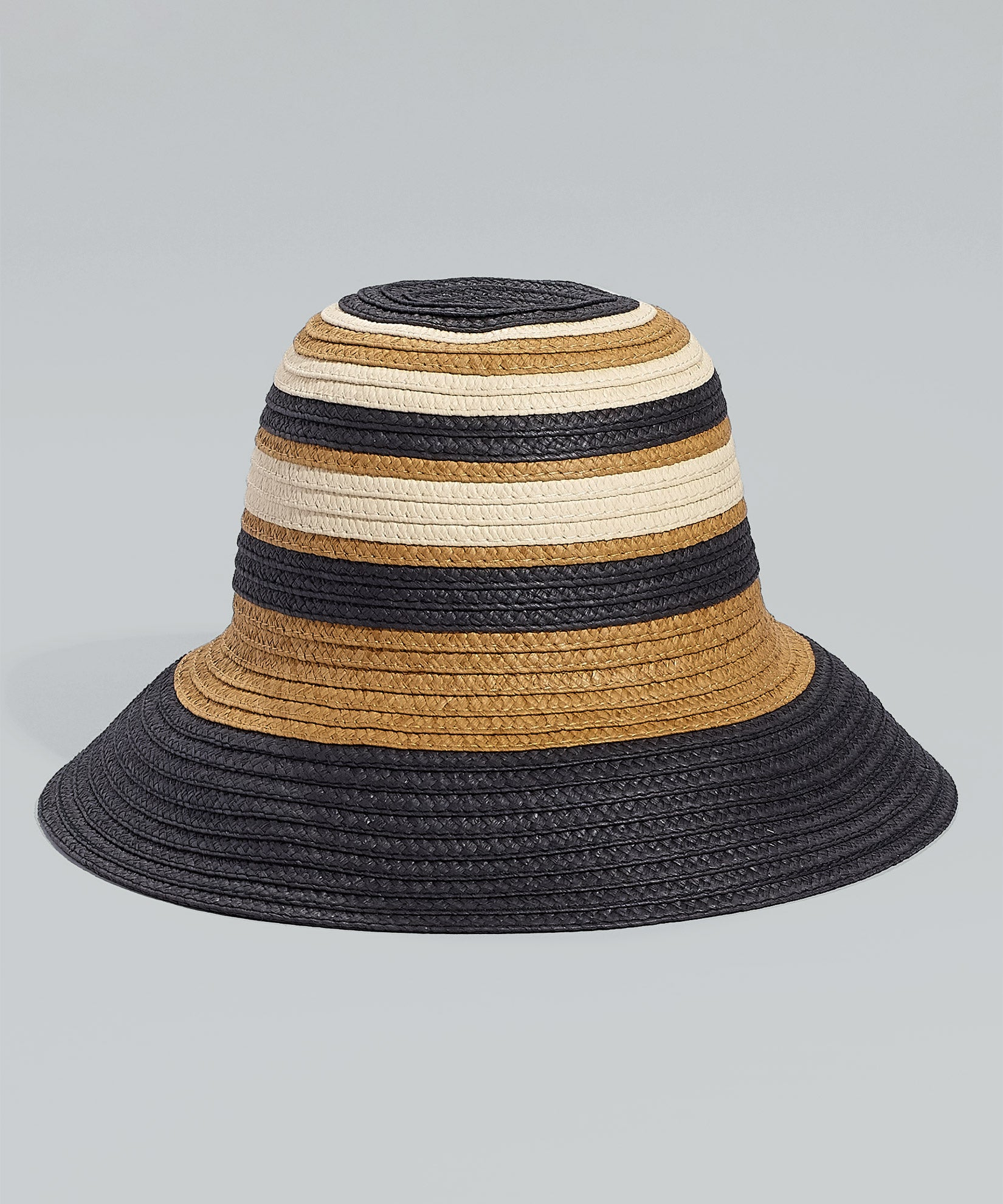 Black - Striped Tall Cloche