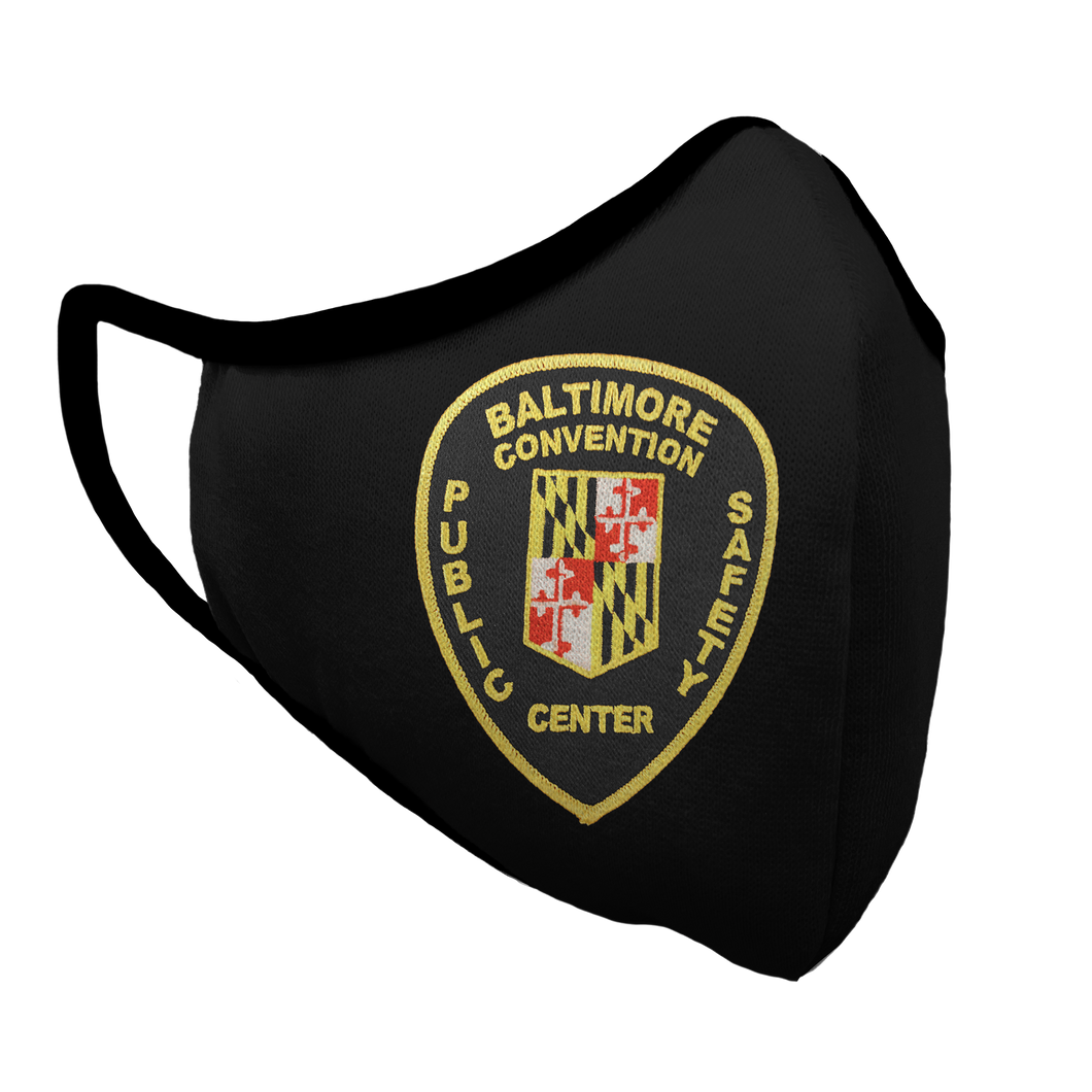 Baltimore Convention Public Safety Center Premium Fitted Face Cover