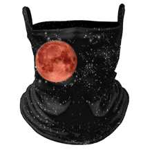 Load image into Gallery viewer, Blood Moon Premium Fitted Neck Gaiter with Ear Support