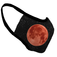 Load image into Gallery viewer, Blood Moon Premium Fitted Face Cover