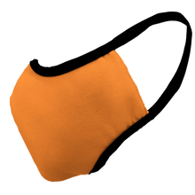 Load image into Gallery viewer, Solid Bright Orange Premium Fitted Face Cover with Black Trim