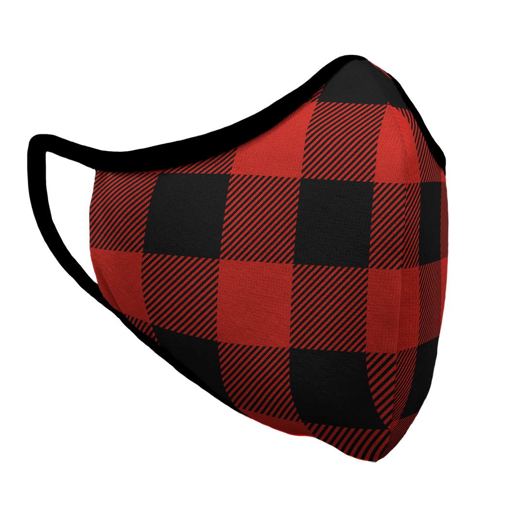 Red Buffalo Plaid Premium Fitted Face Cover