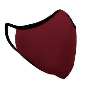 Solid Cardinal Premium Fitted Face Cover with Black Trim