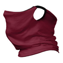 Load image into Gallery viewer, Solid Cardinal Premium Fitted Neck Gaiter with Ear Support with Black Trim