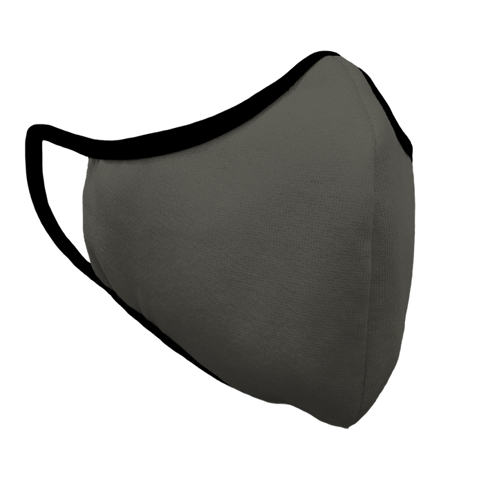 Solid Charcoal Premium Fitted Face Cover with Black Trim
