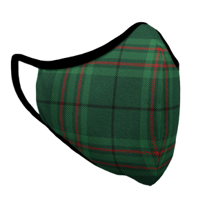 Christmas Plaid Premium Fitted Face Cover