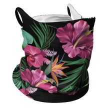 Load image into Gallery viewer, Floral Frenzy Premium Fitted Neck Gaiter with Ear Support