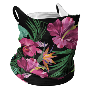 Floral Frenzy Premium Fitted Neck Gaiter with Ear Support