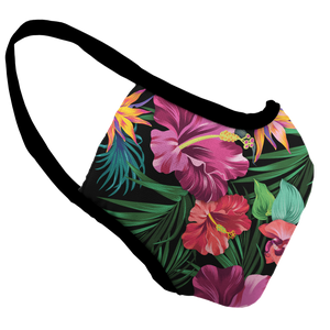 Floral Frenzy Premium Fitted Face Cover