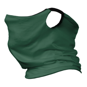 Solid Forest Premium Fitted Neck Gaiter with Ear Support with Black Trim