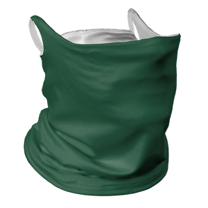 Solid Forest Premium Fitted Neck Gaiter with Ear Support with White Trim