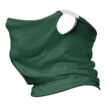 Load image into Gallery viewer, Solid Forest Premium Fitted Neck Gaiter with Ear Support with White Trim