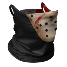 Load image into Gallery viewer, Friday the 13th Premium Fitted Neck Gaiter with Ear Support