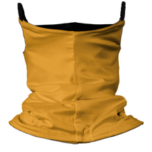 Load image into Gallery viewer, Solid Golden Yellow Premium Fitted Neck Gaiter with Ear Support with Black Trim