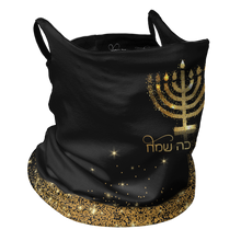 Load image into Gallery viewer, Hanukkah Premium Fitted Neck Gaiter with Ear Support