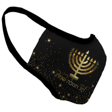 Load image into Gallery viewer, Hanukkah Premium Fitted Face Cover