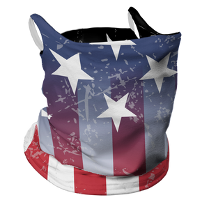 July 4th Premium Fitted Neck Gaiter with Ear Support
