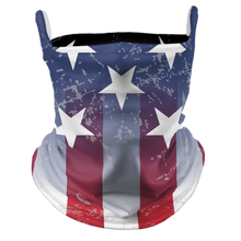 Load image into Gallery viewer, July 4th Premium Fitted Neck Gaiter with Ear Support