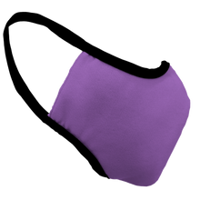 Load image into Gallery viewer, Solid Lavender Fitted Face Cover with Black Trim