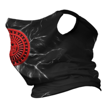 Load image into Gallery viewer, Lord of Mictlan Premium Fitted Neck Gaiter with Ear Support