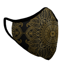 Load image into Gallery viewer, Mandala Bling Premium Fitted Face Cover